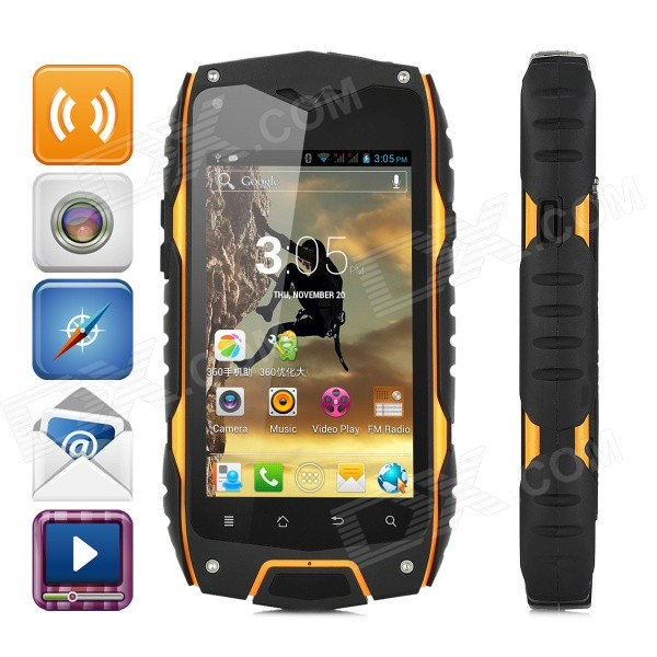 Waterproof Z6 MTK6572 Dual-Core Android 4.2 WCDMA Phone w/ 4.0