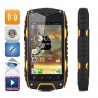 "Waterproof Z6 MTK6572 Dual-Core Android 4.2 WCDMA Phone w/ 4.0"" QHD, 4GB ROM - Black + Orange"