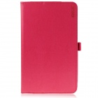 ENKAY Protective PU Leather Case w/ Stand for Asus MeMO Pad 8 / ME581C - Deep Pink