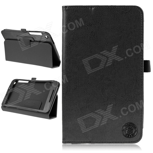 Hat-Prince Protective Flip Open Case w/ Stand for Asus Fonepad 8 / FE380CG - Black