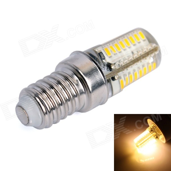 GC E14 3W 170LM 3000K 64-3014 SMD LED Warm White Light Corn Bulb (AC 90-240V) gc e14 3w 170lm 3000k 64 3014 smd led warm white light corn bulb ac 90 240v