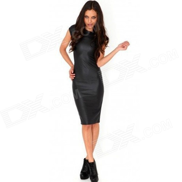 Fashionable OL Style Short-sleeves Slim Dacron Dress - Black (XL) - DXDresses<br>Color Black Size XL Model N/A Quantity 1 Piece Shade Of Color Black Material Dacron Style Fashion Shoulder Width 40 cm Chest Girth 98 cm Waist Girth 76 cm Hip Girth 94 cm Total Length 96 cm Suitable for Height 158~175 cm Packing List 1 x Dress<br>