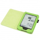 Lichia Pattern protetora PU Flip Case para 2014 Amazon Kindle Nova - Green