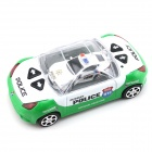 YDL-8809-2 2-CH Remote Control Super Mini Police Car w/ Siren Sound Effect - White + Green (2 x AA)