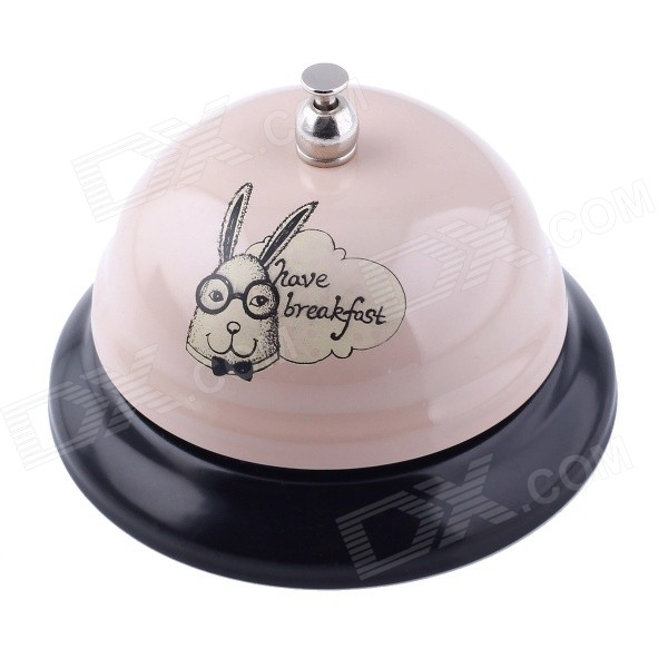 D0032 Fashionable Have Breakfast Rabbit Pattern Calling Bell - Light Pink breakfast for champions