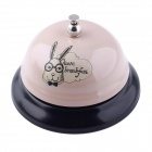 D0032 Fashionable Have Breakfast Rabbit Pattern Calling Bell - Light Pink