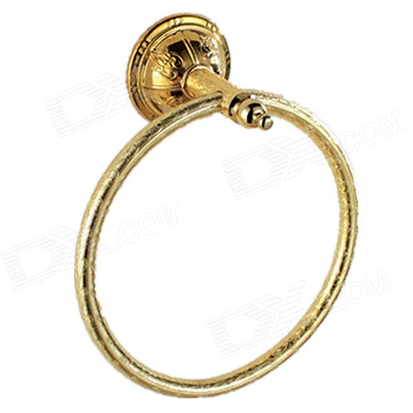 PHASAT 8206 Retro Style Wall-mounted Brass Towel Hanging Ring - Golden Denver Classifieds Marketplace