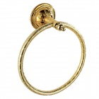 PHASAT 8206 Retro Style Wall-mounted Brass Towel Hanging Ring - Golden