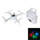 X118 2.4GHz 6-Channel 6-Axis R/C Quadcopter w/ Gyro / LED Light - White