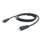 CY HD-093 Micro HDMI Male to Male Type D Cable for SamSung / MOTO / HTC - Black (100cm)
