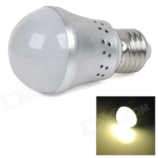 E27 6W 450lm 3000K 10-SMD 5730 LED Warm White Light Bulb - Silver + White (AC 85~265V) lexing lx r7s 2 5w 410lm 7000k 12 5730 smd white light project lamp beige silver ac 85 265v