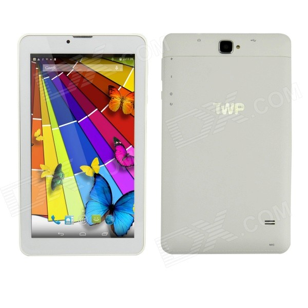TWP 710W 7 IPS Quad-Core Android 4.4 Tablet PC w/1GB RAM, 8GB ROM, Bluetooth, 3G, Wi-Fi - White блендер philips hr 1677 90