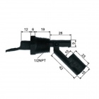 Water Level Sensor Liquid Float Switch - Black (0.5A/AC 220V)
