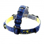 SKILHUNT Adjustable Detachable Flashlight Headband - Blue + Yellow