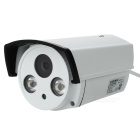 "Waterproof 1/4"" CMOS 720P 1.0MP Surveillance IP Camera w/ 2-IR-LED / Wi-Fi / IR-CUT - White + Black"