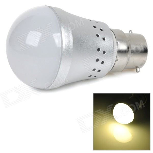 B22 6W 450lm 3000K 10-SMD 5730 LED Warm White Light Bulb - Silvery Grey + White (AC 85~265V) lexing lx r7s 2 5w 410lm 7000k 12 5730 smd white light project lamp beige silver ac 85 265v