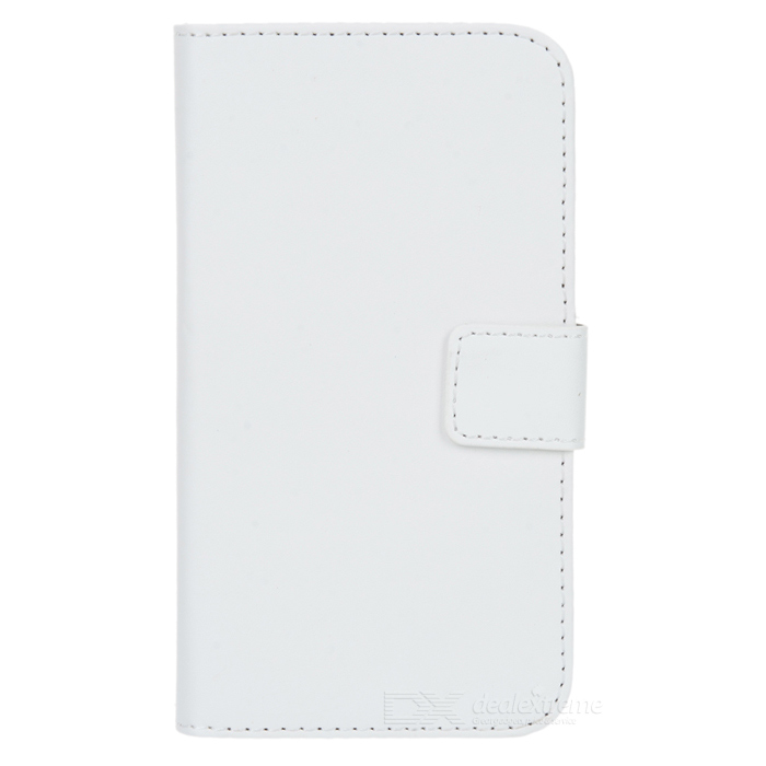 WB-0918 Protective Split Sheepskin Case w/ Stand + Card Slot for MOTO G2 - White