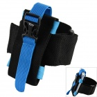 Oumily Outdoor Sports Gym Arm Band for Cell Phone - Black + Blue