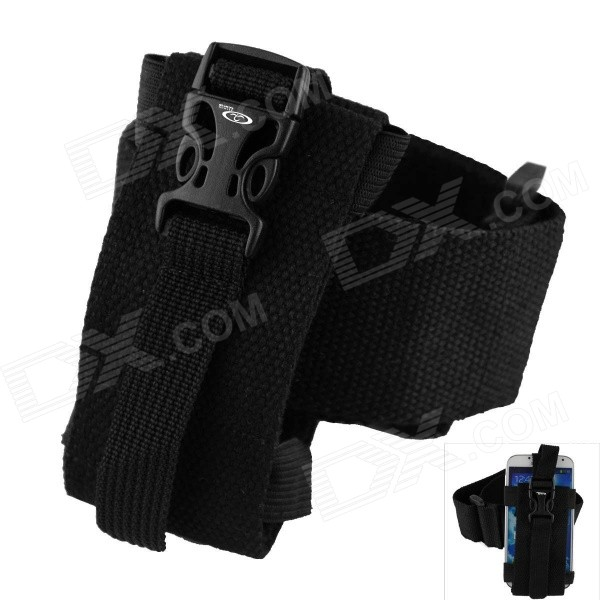Oumily Outdoor Sports Gym Arm Band for Cell Phone - Black universal nylon cell phone holster blue black size l