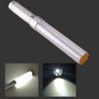 3W White Light LED Hand Light Stick / Aluminum Alloy LED Flashlight - White + Silver (3 x AAA)