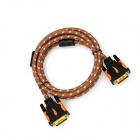 Yellow Knife YK019 DVI-D 24+1 pin HD DVI Cable w/ Golden Plated Connector - Brown + White (1.5m)