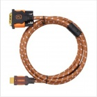 Buy Yellow Knife HDMI Male DVI 24+1 Adapter Nylon Cable - Brown + Black (3m)