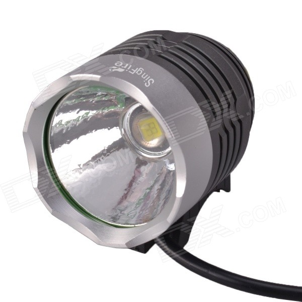 SingFire SF-90 1000lm 4-Mode White LED Bicycle Headlamp - Silver + Grey (4 x 18650)