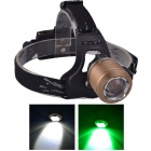 SingFire SF-647Z 2-LED 5V USB Zooming White + Green 3-Mode 250lm Hunting Headlamp - Brown(2 x 18650)