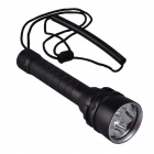 SingFire SF-924 5-LED 3000lm Dimming Diving Flashlight w/ Magnetism Sliding Switch – Black (2×18650)
