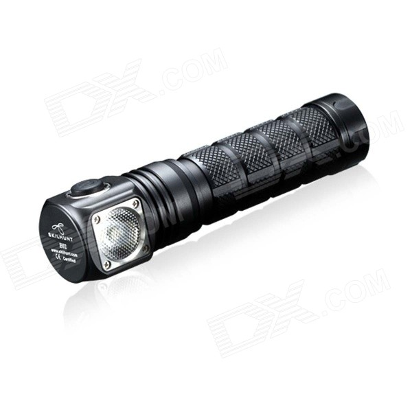 SKILHUNT NEW H02 4-Mode 820lm LED White Flashlight w/ Headband - Black (1 x 18650 / 2 x CR123A)