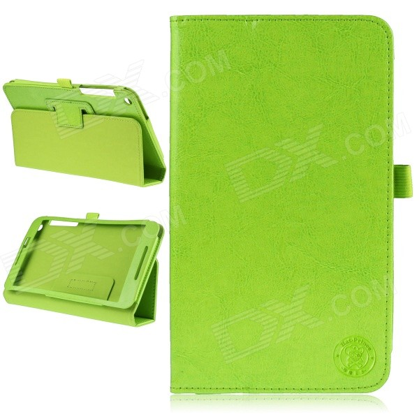 Hat-Prince Simple Style Protective PU Leather Case w/ Stand for Asus Fonepad 8 / FE380CG - Green
