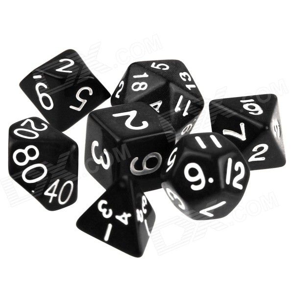 ENKAY Table Game 15-20mm D4 D6 Dice for Dungeons & Dragons - Black