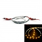 D&Z-FPCC30-O 1.8W 80lm 30-LED Orange Light Decorative Strip Lamp for Car (12~15V, 60cm)