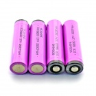 Soshine 2600mAh ICR18650 Anode Protection Li-ion Battery w/ Transparent PVC Case - Violet (4 PCS)