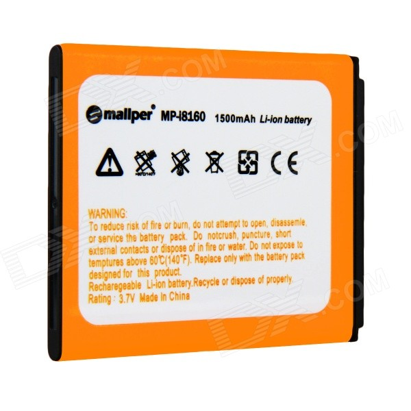 Mallper MP-I8160 3.7V 1275mAh Replacement Li-ion Battery for Samsung i8160  / i8190 / S3 Mini mallper mp i8160 3 7v 1275mah replacement li ion battery for samsung i8160 i8190 s3 mini