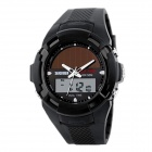 SKMEI Fashion Innovative Analog + Digital Display Solar Electronic Watch - Black