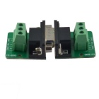 9Pin 3.81 Block Terminal DB9 Connector Module Set - Green