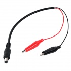 5.5 x 2.1mm DC Power Male Plug to Alligator Clip Test Cable - Black + Red (25cm)