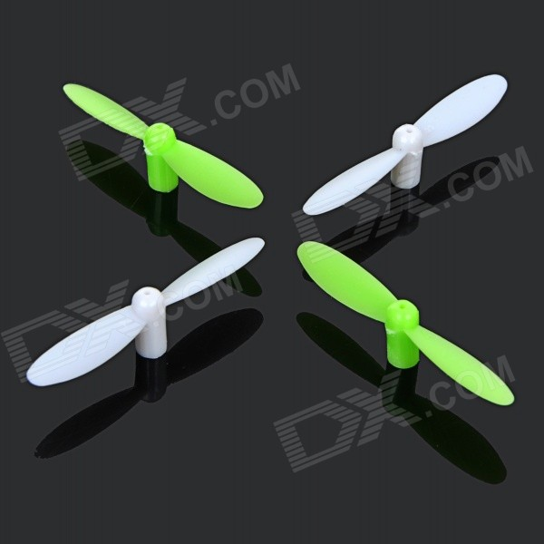 H1-02 Replacement Blades for LH-H1 R/C Quadcopter - Green + White (4 PCS) diy h1 socket bulb connectors green 10 pcs