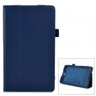 Protective PU Leather Flip-Open Case w/ Stand for Sony Xperia Z3 Tablet Compact - Deep Blue