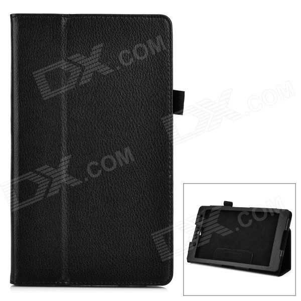 Protective PU Leather Flip-Open Case w/ Stand for Sony Xperia Z3 Tablet Compact - Black