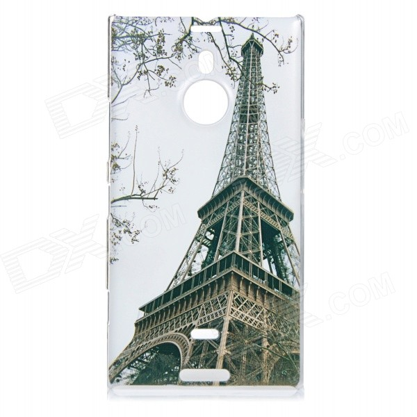 Stylish Eiffel Pattern Protective PC Back Case Cover for Nokia Lumia 1520 - White + Bronze stylish protective pc back case for nokia lumia 1020 blue