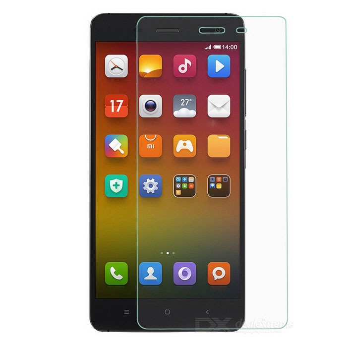 Protective Tempered Glass Screen Guard Protector for Xiaomi Mi4 - Transparent