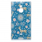 Sika Deer Pattern Protective PC Back Case Cover for Nokia Lumia 1520 - Blue + Pink + Multicolored
