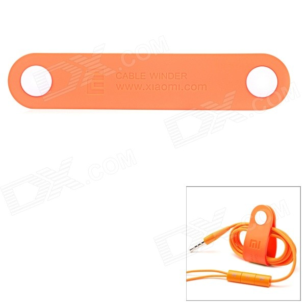 Xiaomi Button Closure PVC Cable Wire Winder Organizer - Orange