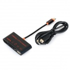 SGM-02 Micro USB MHL to HDMI + TF/SD/HC Cable Adapter for Samsung S2 / S3 / S4 / S5 - Black + Orange