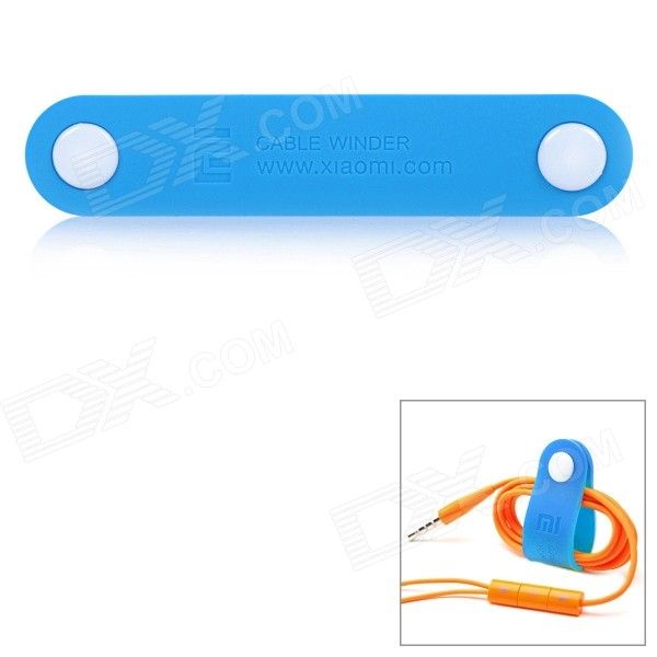 Xiaomi Button Closure PVC Cable Wire Winder Organizer - Blue