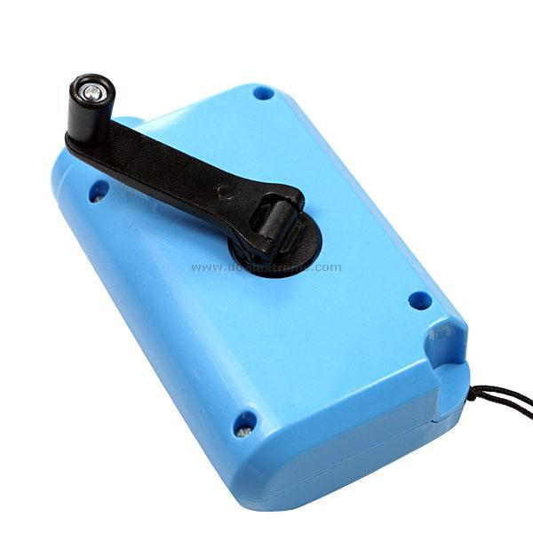 Dynamo 2-in-1 Hand-Crank LED Flashlight and Laser