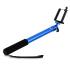 4-Section Retractable Monopod + Adapter + Clip Set for GoPro Hero 1 / 2 / 3 / 3+ / 4 - Dark Blue