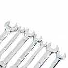 T7 7-in-1 Professional Flexible Foldable Ratchet Spanners Wrenches Set - Silvery White